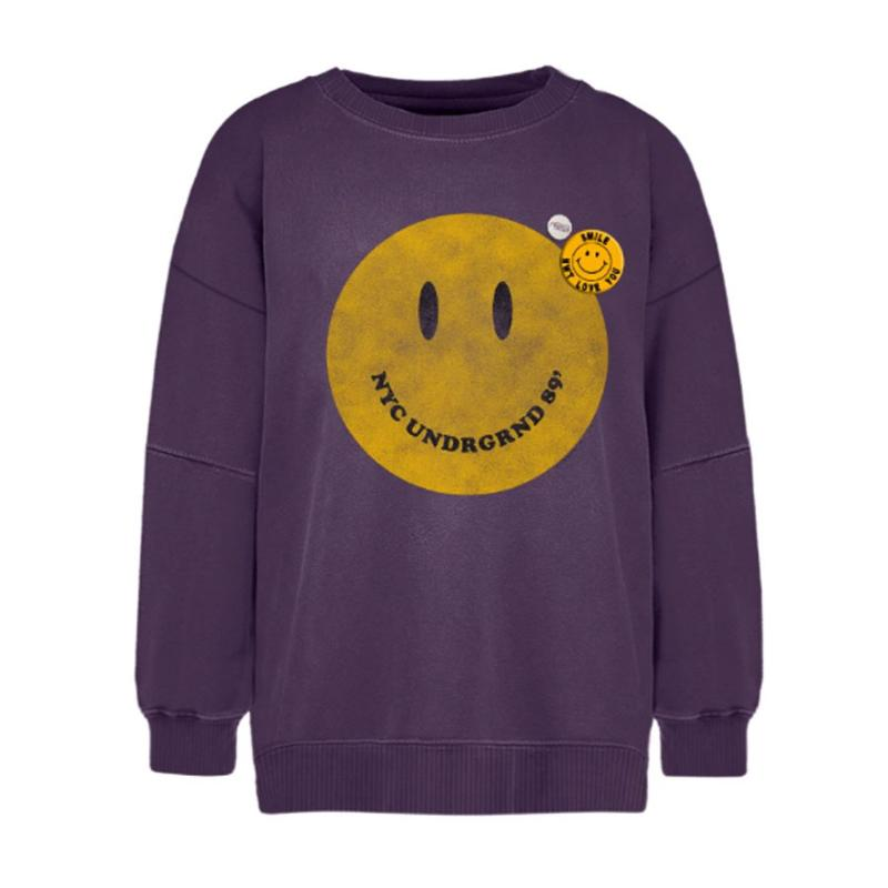 NEWTONE BRAND - Sweat Roller smiley mauve