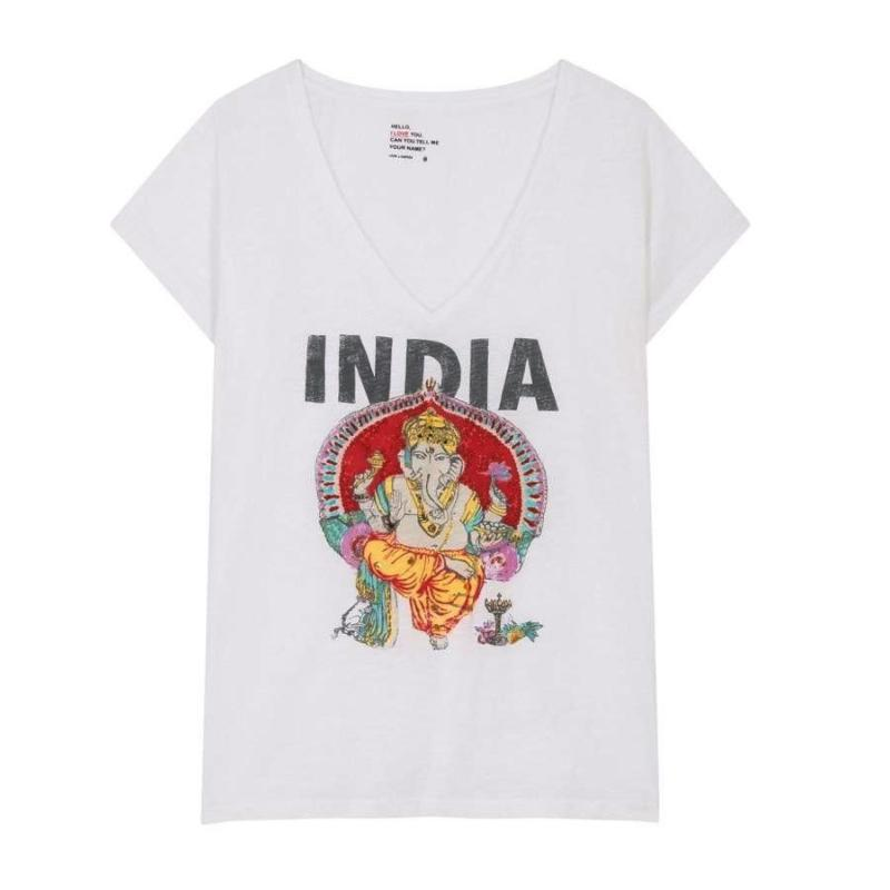 LEON AND HARPER - Tee shirt Tonton India blanc