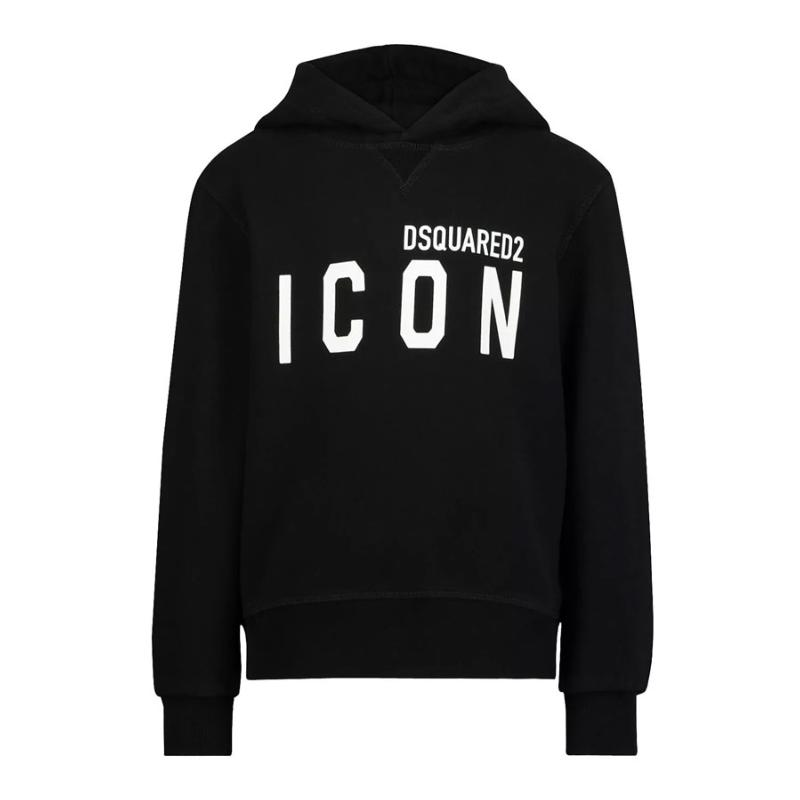 DSQUARED2 -   - Sweat hoodie icon noir - Soldes