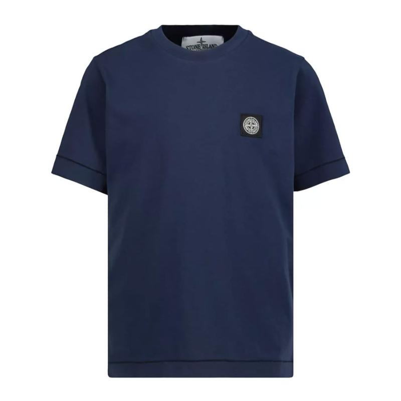 STONE ISLAND JUNIOR - Tee shirt basic navy