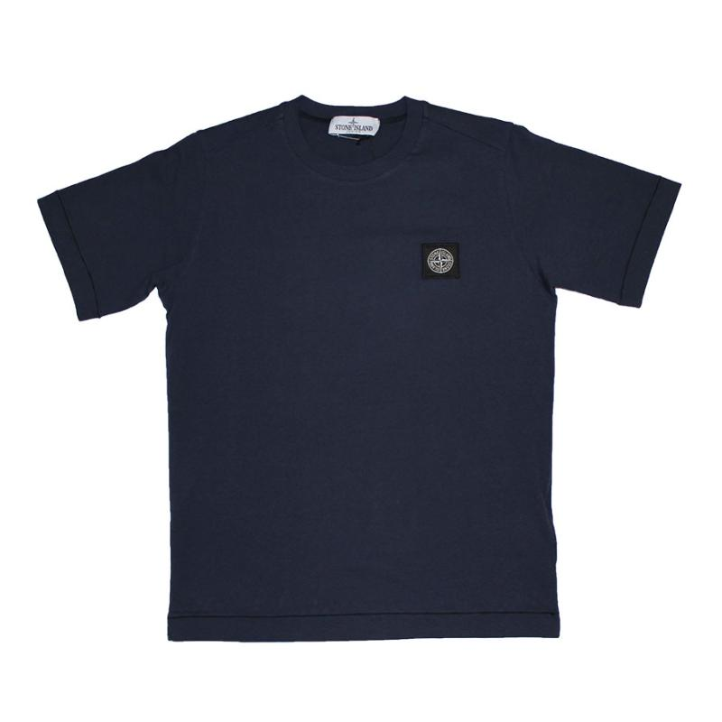 STONE ISLAND JUNIOR - Tee shirt basic navy - Nouvelle collection