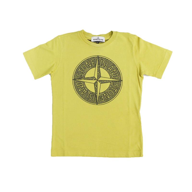 STONE ISLAND JUNIOR - Tee shirt logo - Nouvelle Collection