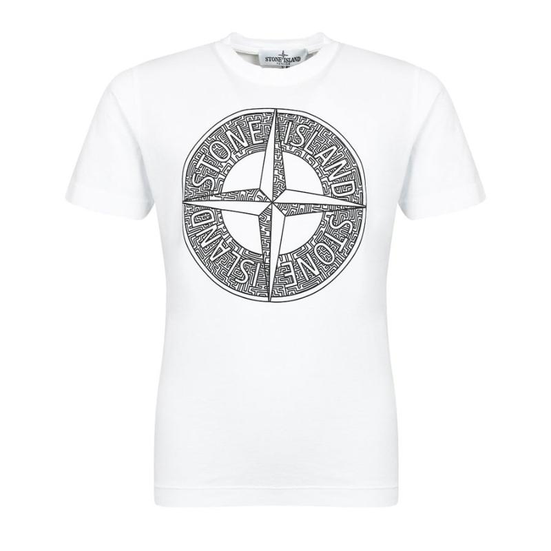 STONE ISLAND JUNIOR - Tee shirt logo