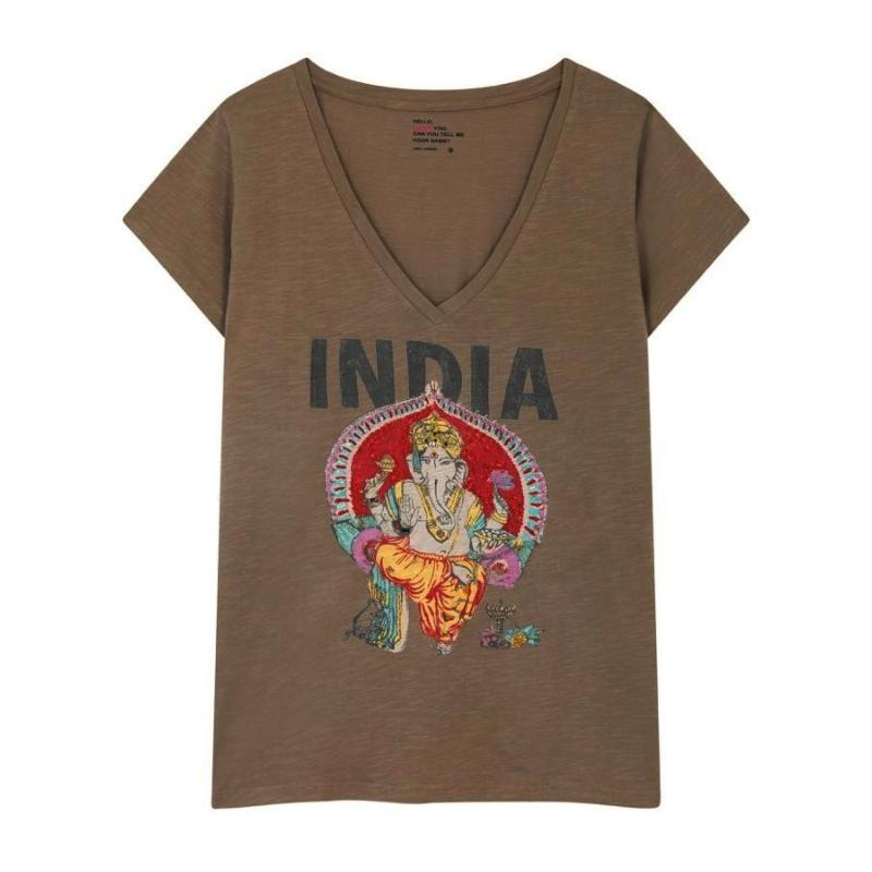 LEON AND HARPER - Tee shirt Tonton India kaki