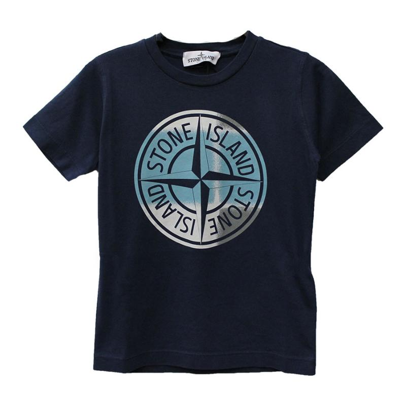 STONE ISLAND JUNIOR - Tee shirt navy - Nouvelle collection