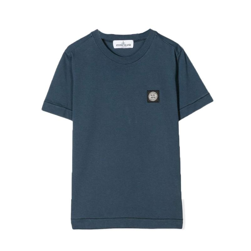 STONE ISLAND JUNIOR - Tee shirt basic denim - Nouvelle Collection