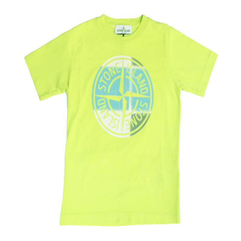 STONE ISLAND JUNIOR - Tee shirt anis - Nouvelle collection
