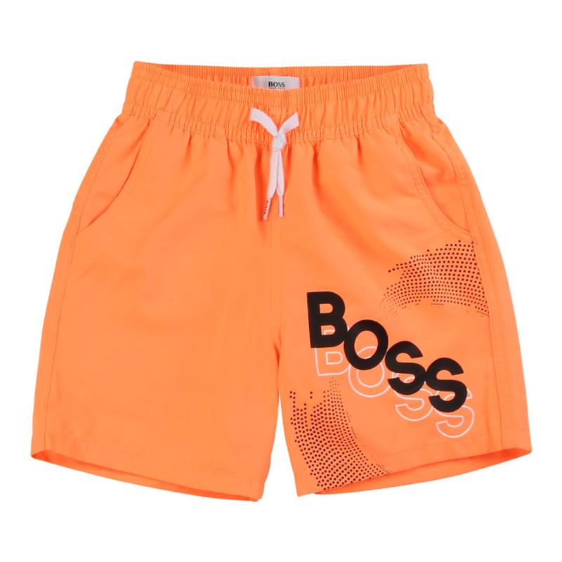 BOSS - Short de bain orange