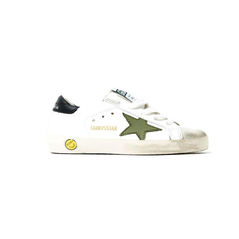 GOLDEN GOOSE DELUXE - Sneakers superstar vert