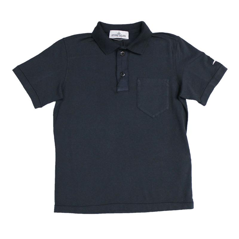 STONE ISLAND JUNIOR - Polo en jersey navy