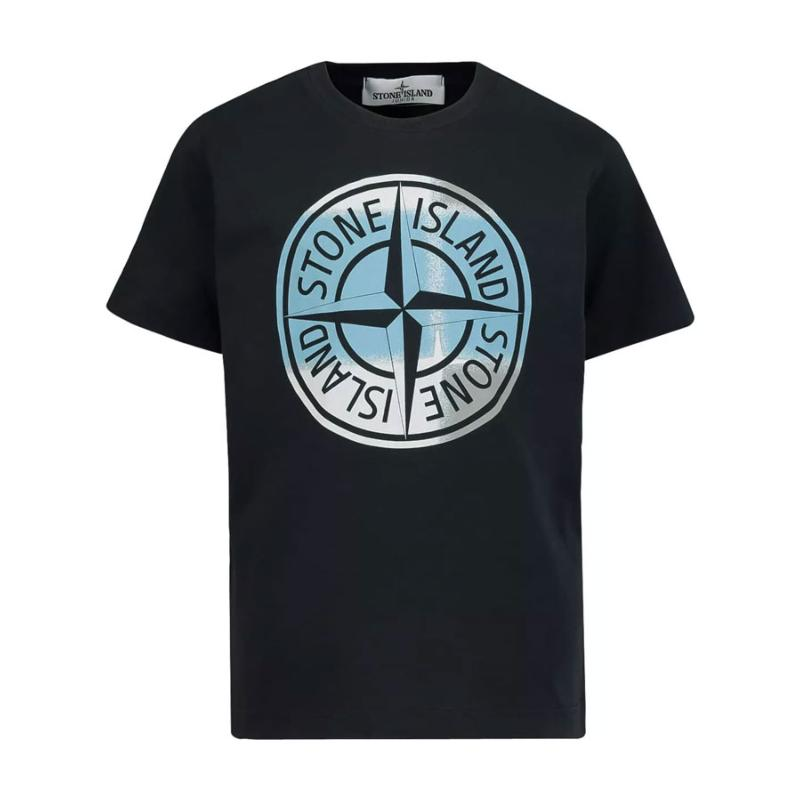 STONE ISLAND JUNIOR - Tee shirt noir- Nouvelle collection