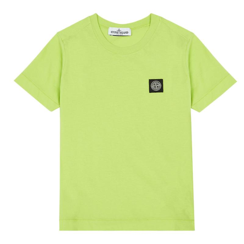 STONE ISLAND JUNIOR - Tee shirt basic anis - Nouvelle collection