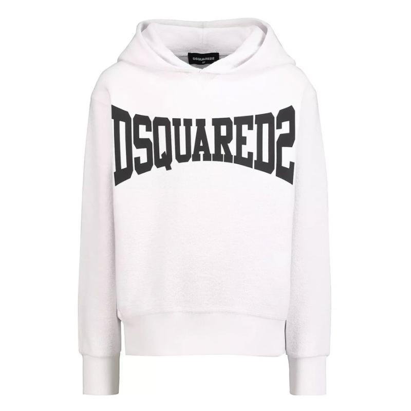 DSQUARED2 - Sweat hoodie blanc - Nouvelle collection