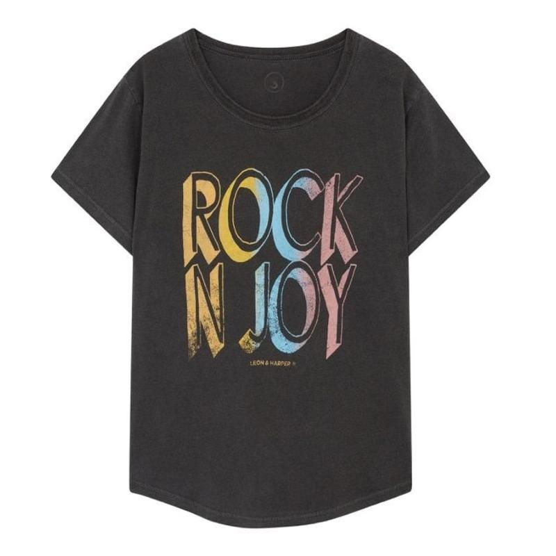LEON AND HARPER - Tee shirt Toro rock carbone
