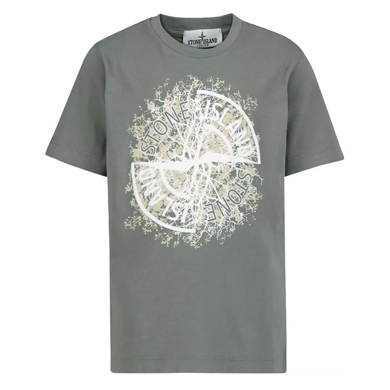 STONE ISLAND JUNIOR - Tee shirt avec logo - Nouvelle collection