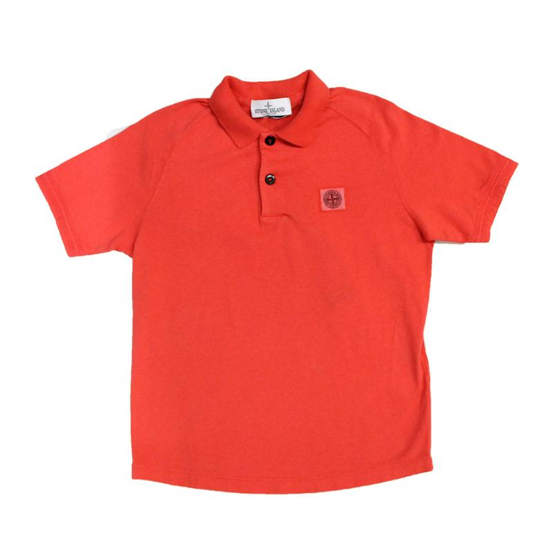 STONE ISLAND JUNIOR - Polo en jersey rouge