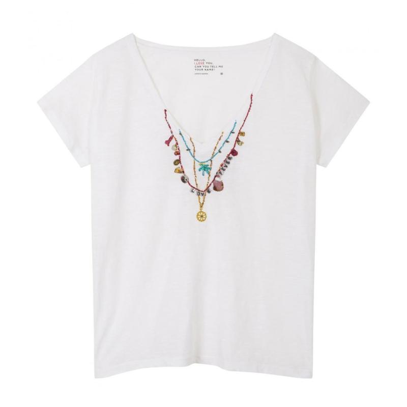 LEON AND HARPER - Tee shirt Tonton Palm blanc